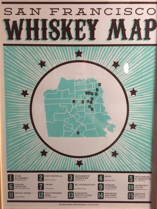 San Francisco Whiskey Map